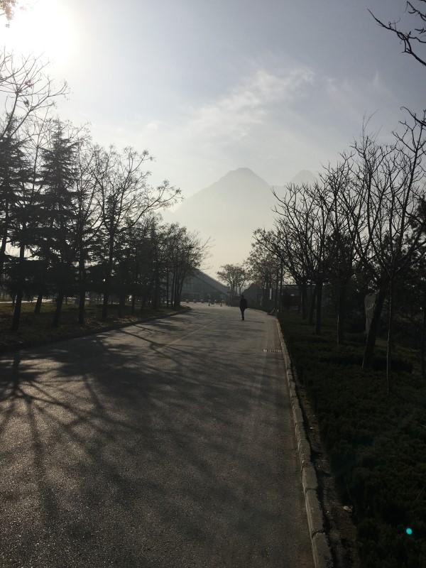 华山游客中心小路