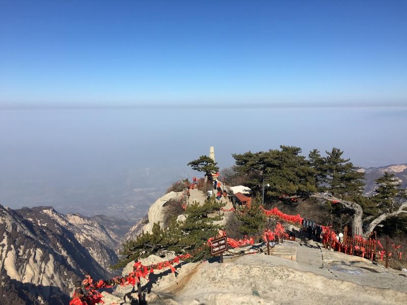 西峰顶远眺华山市
